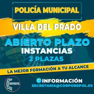 ABIERTAS INSTANCIAS POLICÍA LOCAL VILLA DEL PRADO: