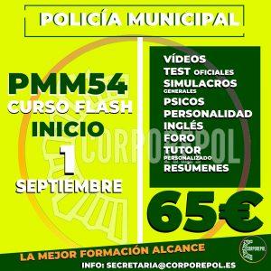 NUEVO GRUPO FLASH POLICÍA MUNICIPAL DE MADRID PROMOCIÓN 54 (2021):
