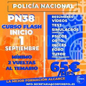 NUEVO GRUPO FLASH POLICÍA NACIONAL PROMOCIÓN 38 (2021):