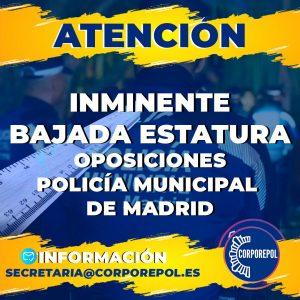 ELIMINACIÓN DE LA ESTATURA OPOSICIONES POLICÍA LOCAL COMUNIDAD DE MADRID: