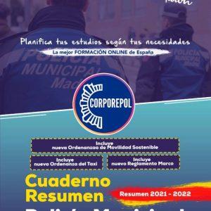 A LA VENTA NUEVO CUADERNO RESUMEN COMPLETAMENTE ACTUALIZADO POLICÍA MUNICIPAL DE MADRID Y MUNICIPIOS: