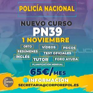 ABRIMOS NUEVO GRUPO POLICÍA NACIONAL PROMOCIÓN 39 (2022):